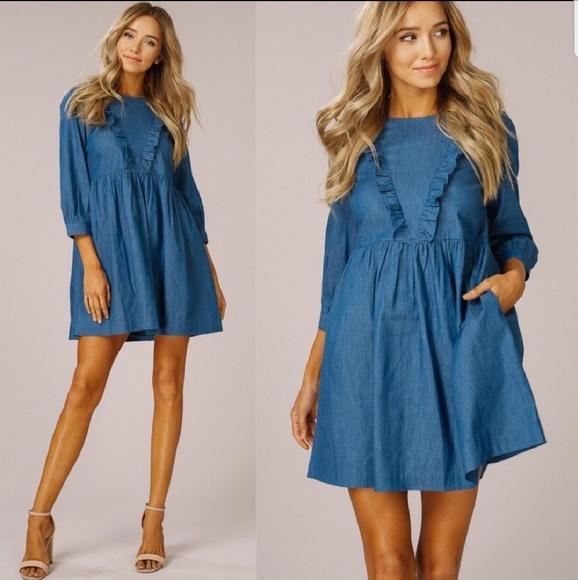 Bellanblue Dresses & Skirts - Blue Chambray Dress